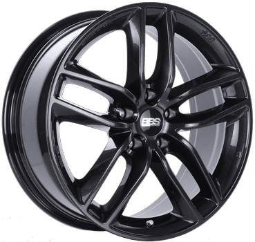 "BBS SX Series 5x108 18x8.0"" +45mm Offset Crystal Black Wheels"