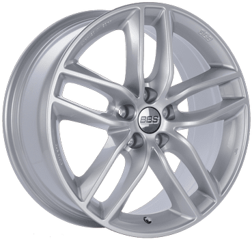 "BBS SX Series 5x108 17x7.5"" +45mm Offset Sport Silver Wheels"