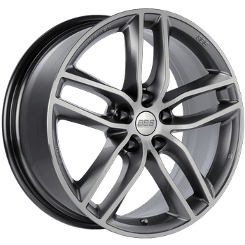 "BBS SX Series 5x108 19x8.5"" +45mm Offset Platinum Silver Diamond-Cut Wheels"