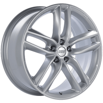 "BBS SX Series 5x108 20x9.0"" +38mm Offset Sport Silver Wheels"