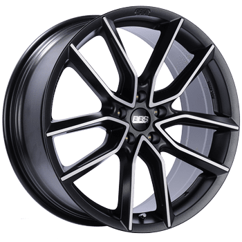 "BBS XA Series 5x108 18x8.5"" +45mm Offset Black Diamond-Cut Wheels"