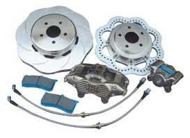 "Brake Man ""Road Race"" Storm System Rear Brake Upgrade Kit (Evo 8) - Modern Automotive Performance"