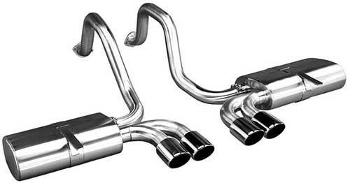 Corsa C5 Sport Axle-back Exhaust System - Black | 1997-2004 Chevy Corvette (14111BLK)