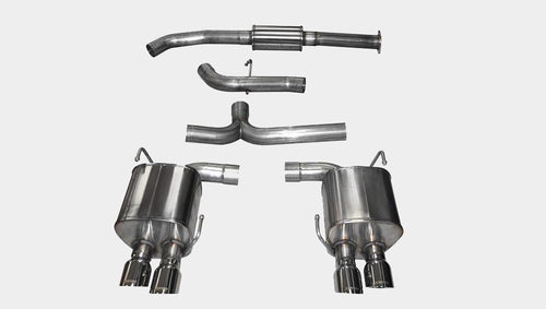 "2015 Subaru Impreza WRX/STI Cat Back Exhaust, Polished Quad 3.5"" Tips *Sport* by Corsa (14857) - Modern Automotive Performance  - 1"