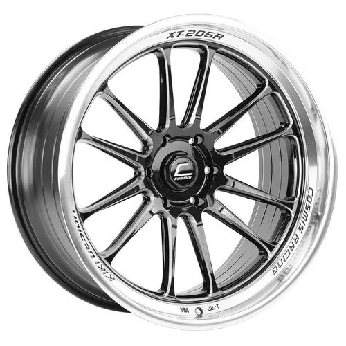Cosmis Racing XT-206R Black w/ Machined Lip + Spokes Wheel 22x10 +0mm 6x139.7 (XT206R-2210-0-6X139.7-BML)