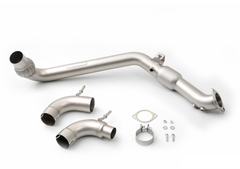 CP-E QKspl Downpipe w/ High Flow Cat | 2015+ Ford Mustang Ecoboost (FDDP00006T)
