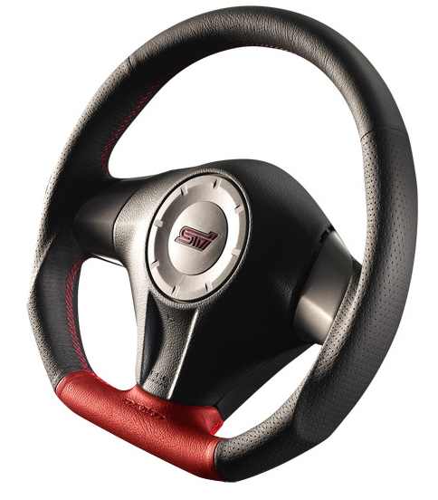DAMD D-Shaped Red Formula Steering Wheel | Multiple Subaru Fitments (SS358-DL-RF)