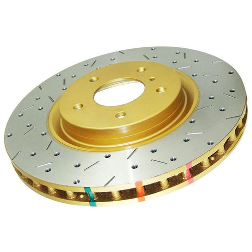 Front Slotted 4000 Brake Rotor for 10+ Ford Mustang GT 5.0L V8 by DBA (Disc Brakes Australia) - Modern Automotive Performance