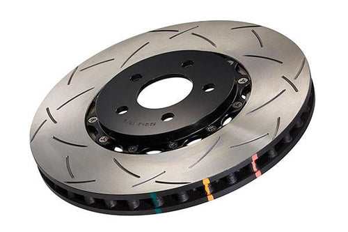 DBA Front Slotted 5000 2 Piece Rotor Assembled - Black | 09+ Nissan GTR R-35 (52320BLKS) - Modern Automotive Performance
