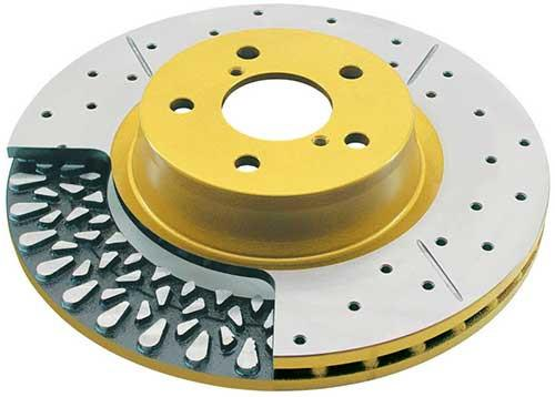 DBA Street Series Gold Slotted/Drilled Rear Rotors (WRX 2002-2005) 644X - Modern Automotive Performance