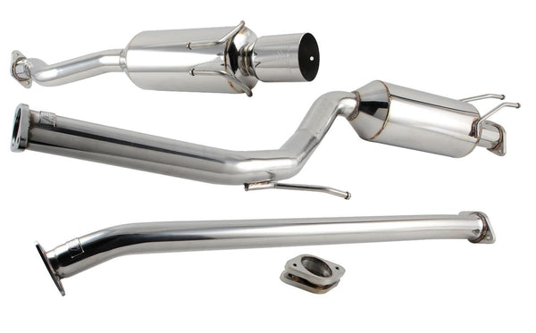 DC Sports Single Canister Catalytic-Back Exhaust System 2006-2011 Honda Civic EX/DX/LX SCS7036 - Modern Automotive Performance