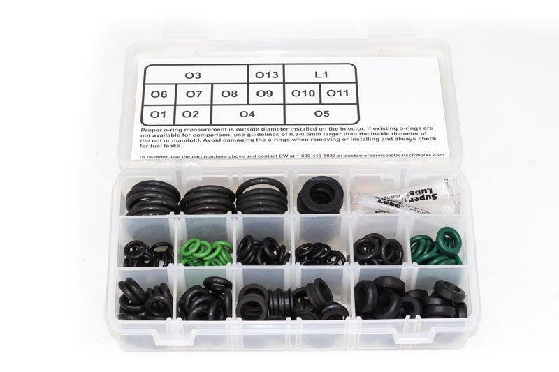 Deatschwerks 230 Piece Sport Compact and Euro Fuel Injector O-ring Kit |  (2-201)