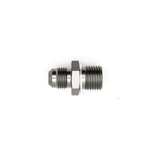 DeatschWerks 6AN Male Flare to M16x1.5 Male Metric Adapter w/ Crush Washer (6-02-0615)