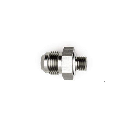 DeatschWerks 8AN Male Flare to M12x1.5 Male Metric Adapter w/ Crush Washer (6-02-0617)