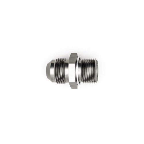 DeatschWerks 8AN Male Flare to M18x1.5 Male Metric Adapter w/ Crush Washer (6-02-0620)