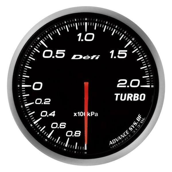 Defi Advance BF JDM Series Link Meter Gauge 60mm Turbo with White Lighting (-100kPa to +200kPa) | (DF09901)