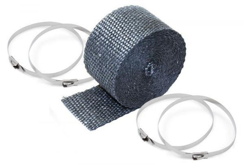 Pipe Wrap and Locking Ties Kit 2 in x 25 ft - Titanium w/ 4 Locking Ties by DEI - Modern Automotive Performance