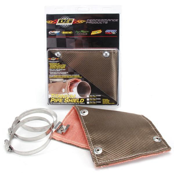 Titanium Pipe Shield - Exhaust Heat Shield  by DEI - Modern Automotive Performance