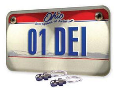 Lite'N Boltz Polished License Plate Kit Dome Head (4-pc.) by DEI