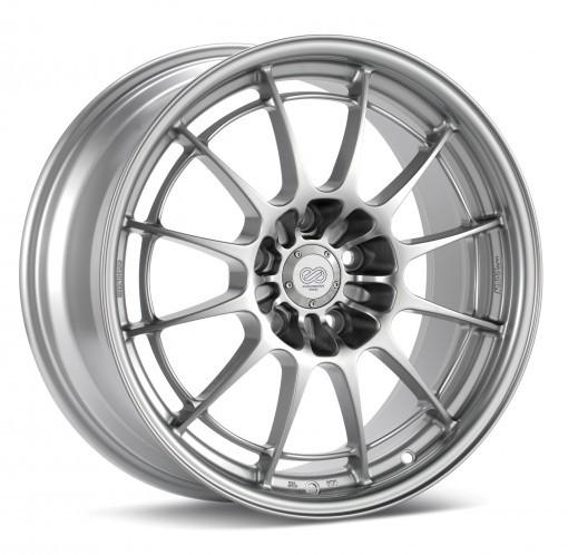 NT03+M 18x10 5x120 25mm Offset 72.6mm Bore Silver Wheel by Enkei - Modern Automotive Performance