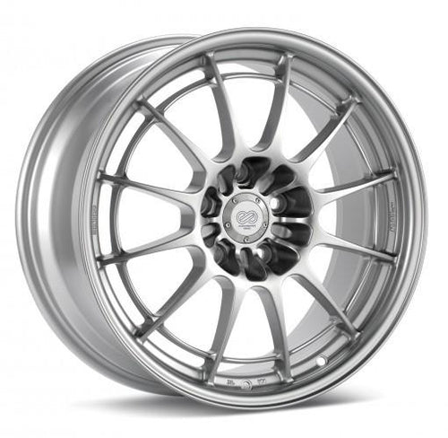 NT03+M 18x10.5 5x114.3 30mm Inset 72.6mm Bore Silver Wheel by Enkei - Modern Automotive Performance