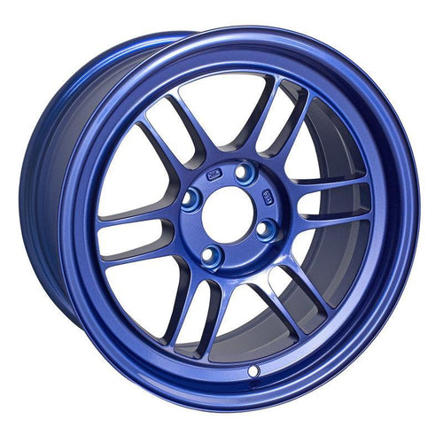 "Enkei RPF1 4x100 15x8"" +28mm Offset Wheels in Victory Blue"