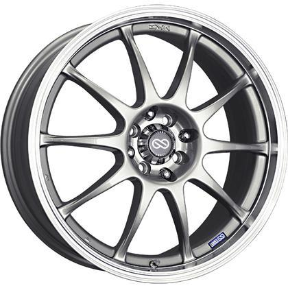 J10 15x6.5 5x100/114.3 38mm Offset 72.62mm Bore Dia Silver w/ Machined Lip Wheel by Enkei - Modern Automotive Performance