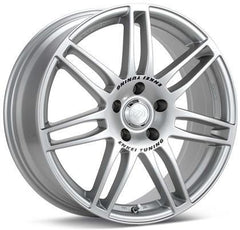 SC05 18x8 35mm Offset 5x112 Bolt Pattern 75mm Bore Dia Silver Wheel by Enkei