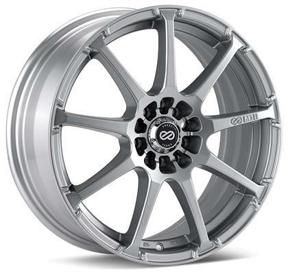 EDR9 18x7.5 5x100/114.3 45mm Inset 72.6 Bore Dia Silver Wheel by Enkei - Modern Automotive Performance
