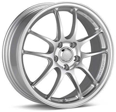 PF01 18x8 5x112 35mm offset Silver Wheel by Enkei