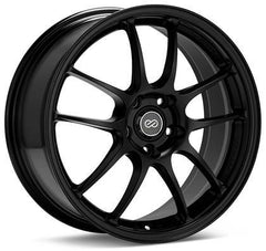 PF01 18x9.5 5x114.3 15mm Offset 75 Bore Dia Black Wheel by Enkei