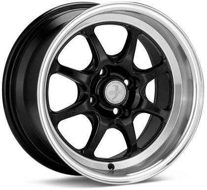 J-Speed Classic Line 15x7 38mm Offset 4x100 Bolt Pattern Black Wheel by Enkei - Modern Automotive Performance