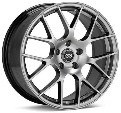 Raijin 18x8 45mm Inset 5x112 Bolt Pattern 72.6 Bore Diamter Titanium Gray Wheel by Enkei - Modern Automotive Performance