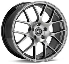 Raijin 18x8.5 38mm Inset 5x114.3 Bolt Pattern 72.6 Bore Diameter Hyper Silver Wheel by Enkei