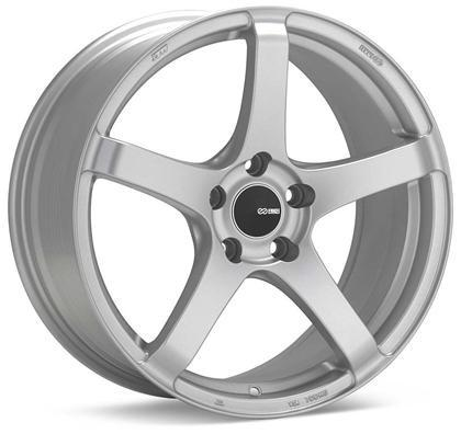 Kojin 18x8.5 42mm Inset 5x112 Bolt Pattern 72.6mm Bore Dia Matte Silver Wheel by Enkei - Modern Automotive Performance
