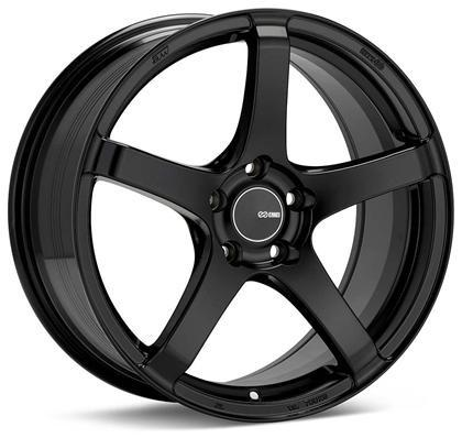 Kojin 18x8.5 25mm Inset 5x114.3 Bolt Pattern 72.6mm Bore Dia Matte Black Wheel by Enkei - Modern Automotive Performance