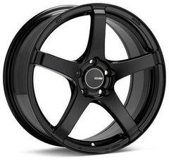 Kojin 18x8.5 25mm Inset 5x114.3 Bolt Pattern 72.6mm Bore Dia Matte Black Wheel by Enkei