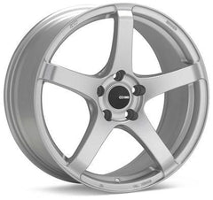 Kojin 18x9.5 15mm Inset 5x114.3 Bolt Pattern 72.6mm Bore Dia Matte Silver Wheel by Enkei