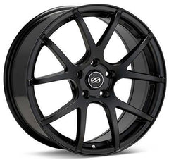 M52 18x8 45mm Inset 5x112 Bolt Pattern 72.6mm Bore Dia Matte Black Wheel by Enkei