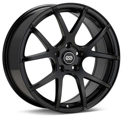 M52 18x8 45mm Inset 5x100 Bolt Pattern 72.6mm Bore Dia Matte Black Wheel by Enkei - Modern Automotive Performance