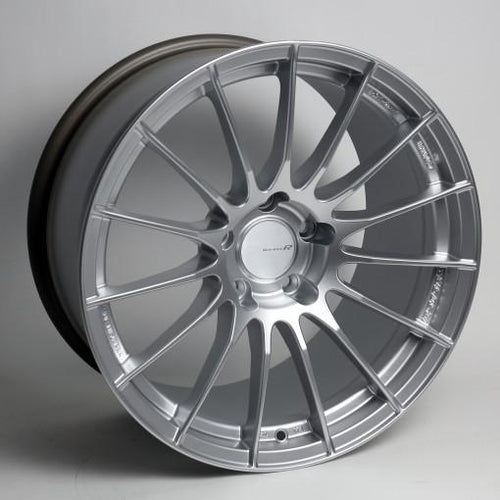 RS05-RR 18x9.5 22mm Offset 5x120 Bolt Pattern 72.5 Bore Sparkle Silver Wheel by Enkei - Modern Automotive Performance