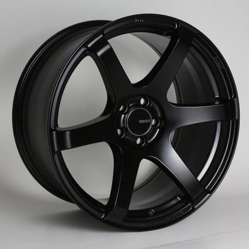 T6S 18x8 45mm Offset 5x112 Bolt Pattern 72.6 Bore Matte Black Wheel by Enkei - Modern Automotive Performance