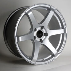 T6S 18x8 45mm Offset 5x112 Bolt Pattern 72.6 Bore Matte Silver Wheel by Enkei
