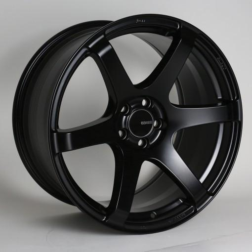 Enkei T6S / 18x9.5 / 15mm Offset / 5x114.3 Bolt Pattern / 72.6 Bore Matte Black Wheel