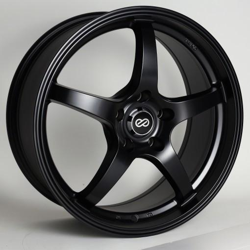 VR5 15x6.5 38mm Offset 4x100 Bolt Pattern 72.6 Bore Dia Matte Black Wheel by Enkei - Modern Automotive Performance