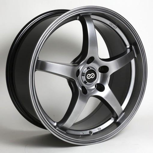 VR5 18x8 40mm Offset 5x114.3 Bolt Pattern 72.6 Bore Dia Hyper Black Wheel by Enkei - Modern Automotive Performance