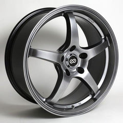 VR5 18x8 40mm Offset 5x114.3 Bolt Pattern 72.6 Bore Dia Hyper Black Wheel by Enkei