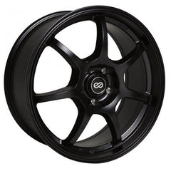 GT7 18x8 40mm Offset 5x114.3 Bolt Pattern 72.6 Bore Dia Matte Black Wheel by Enkei