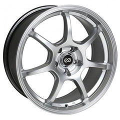 GT7 18x8 40mm Offset 5x114.3 Bolt Pattern 72.6 Bore Dia Hyper Silver Wheel by Enkei