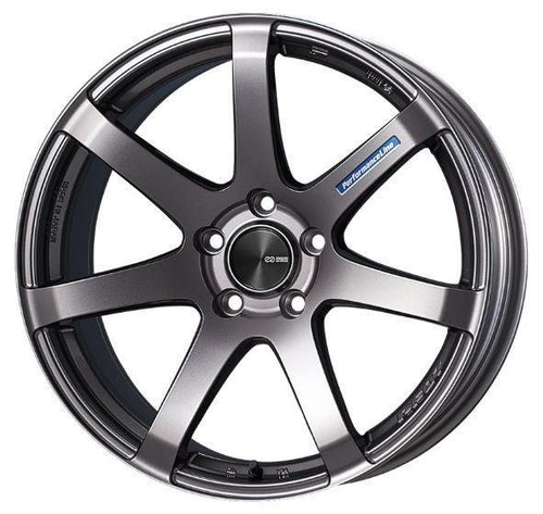 "Enkei PF07 5x112 17x7.5"" +50mm Offset Dark Silver Wheels"